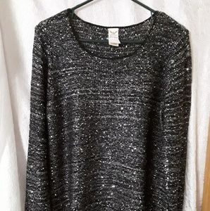 Faded Glory Womens Sequined Sweater. XL (16-18)